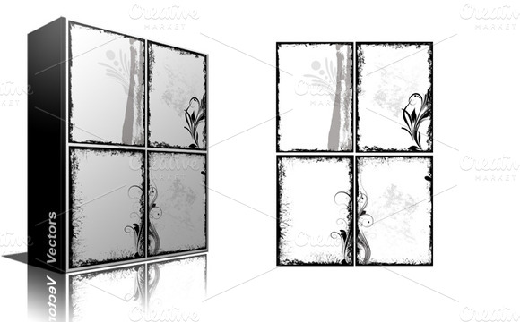 Grunge Photo Frames Borders