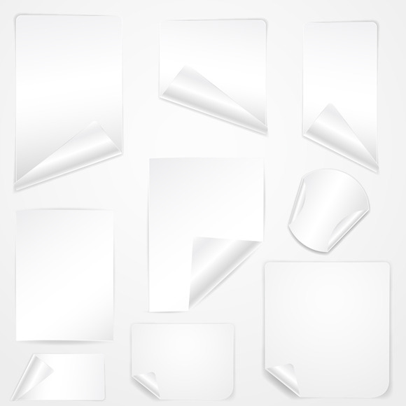 Blank Banners Stickers
