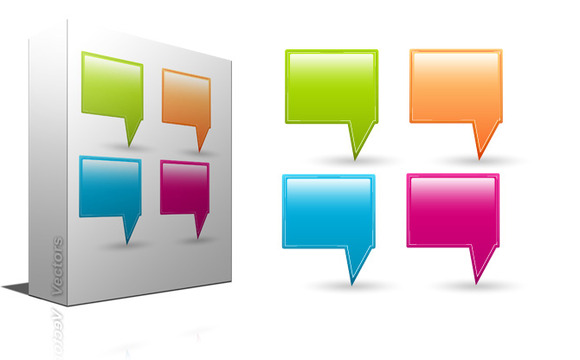 Pointing Speech Bubbles