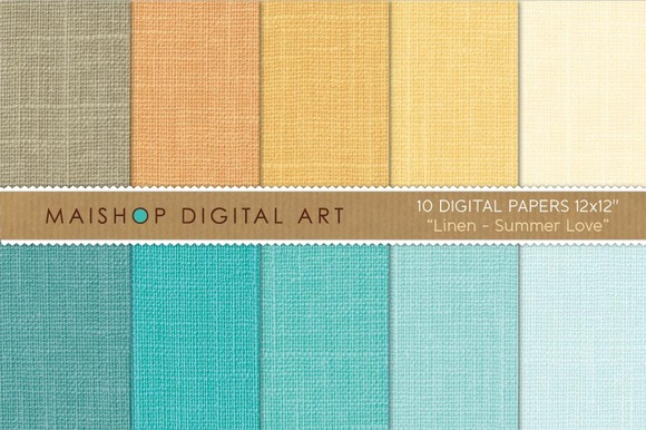 Digital Paper-Linen-Summer Love