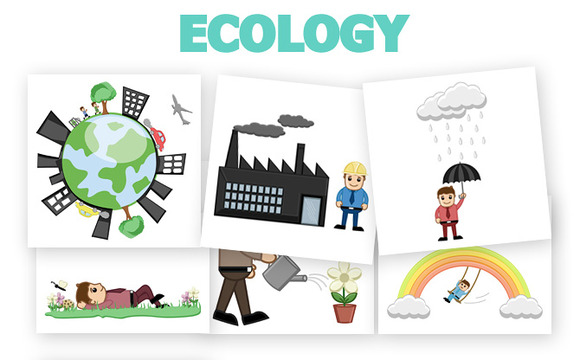 40 Ecology Concept Vector Cartoons