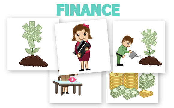 50 Finance Money Concept Cartoons