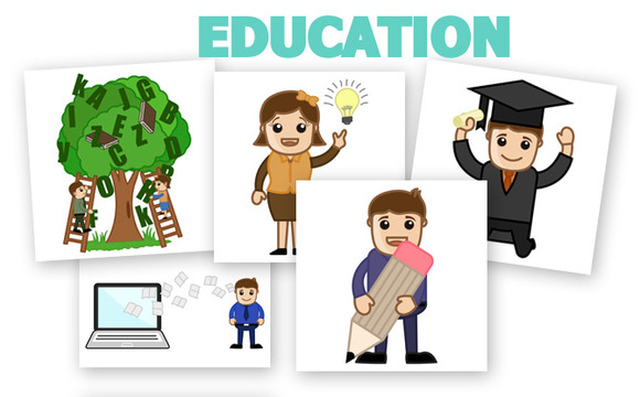60 Education Cartoons Characters