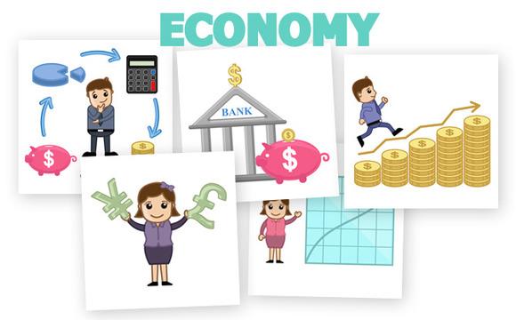30 Economy Concepts Cartoons