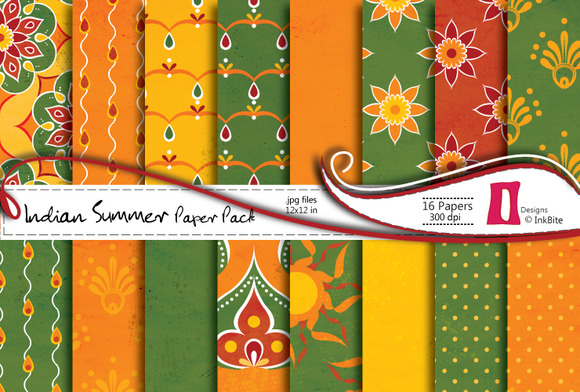 Indian Summer Digital Paper Pack