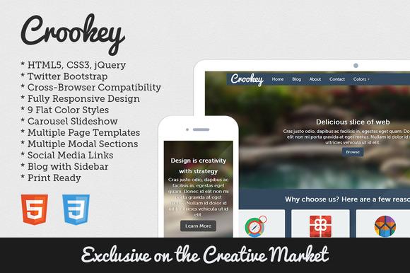 Crookey HTML5 Bootstrap Theme