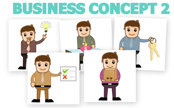 30 Business Cartoons Concepts 2