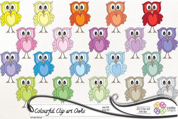 Cute Colorful Clip Art Owls