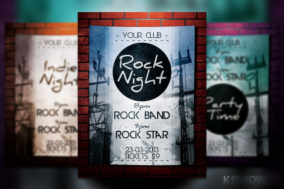 Rock Night Flyer Poster