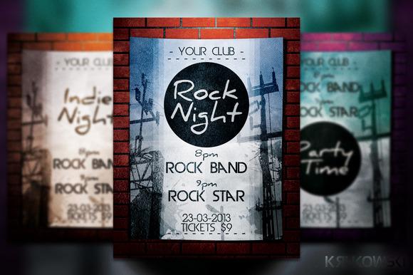 Rock Night Flyer Poster