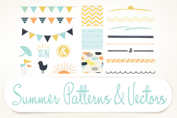 Summer Patterns Vectors