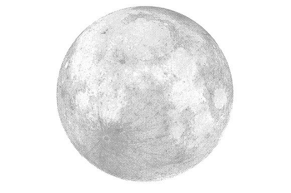 Silver Moon Vector