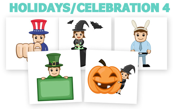 50 Holidays Cartoons Concepts