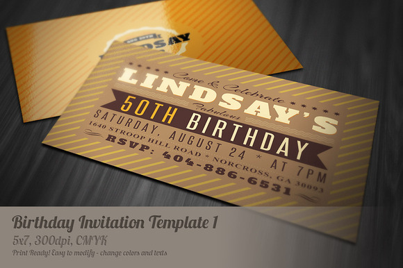 Retro Birthday Invitation 1