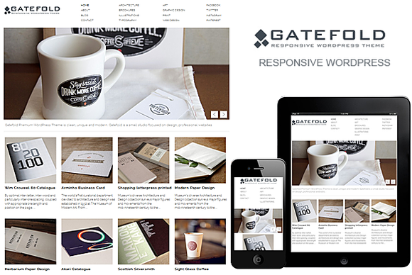 Gatefold WordPress Responsive Theme