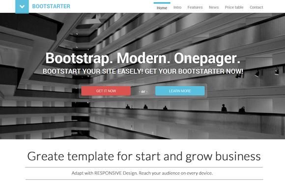 BootStarter One Page Parallax Busine