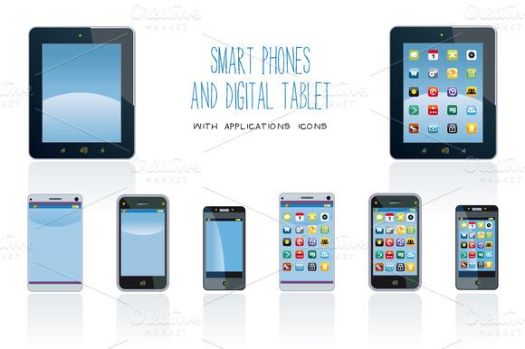 Smart Phones And Digital Tablet