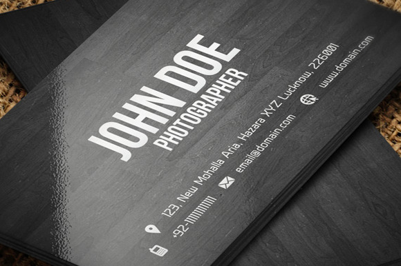 Creative Wooden Business Card