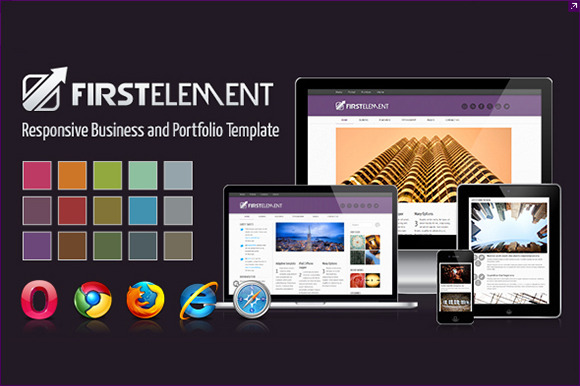 First Element Responsive Template