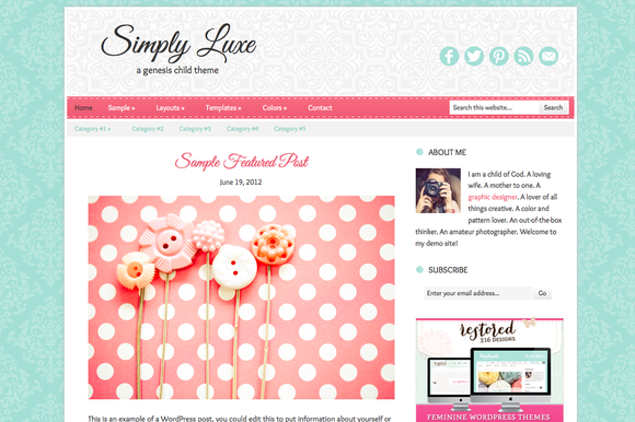 Simply Luxe Genesis Child Theme