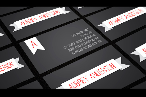 Aubrey Business Card Template
