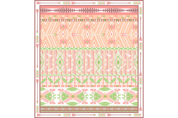 §іolorful Aztec Geometric Pattern