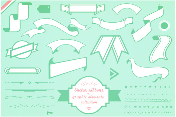 Vector Ribbons And Graphic Elements