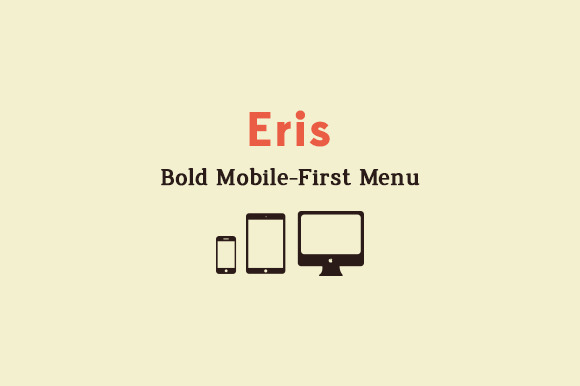 Eris Bold Mobile-First Menu