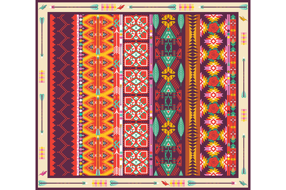 Seamless Colorful Aztec Carpet