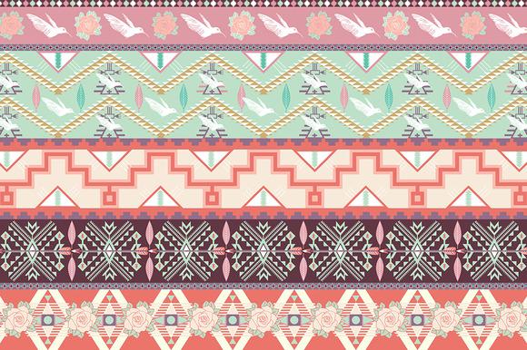 Seamless Pastel Aztec Pattern