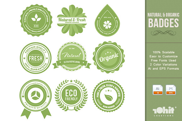 Natural Organic Badges