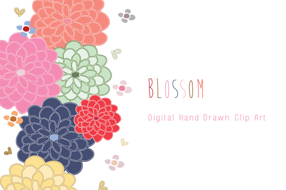 Hand Drawn Clip Art Blossom