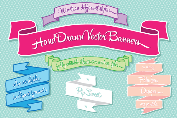 Hand Drawn Vector Banners