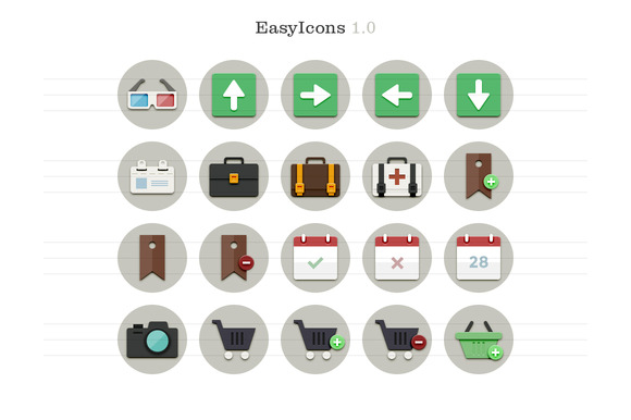 EasyIcons 1.0 Flat Vector Icons