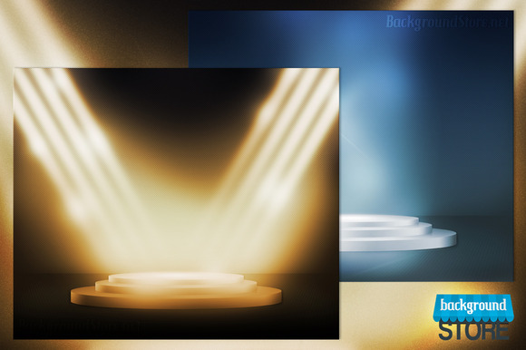 Podium Stage Spotlight Background