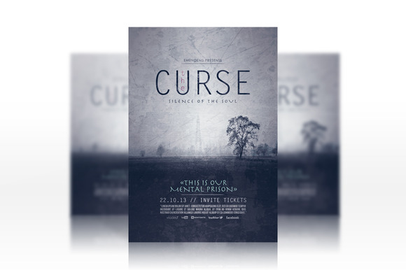 The Curse Flyer Template