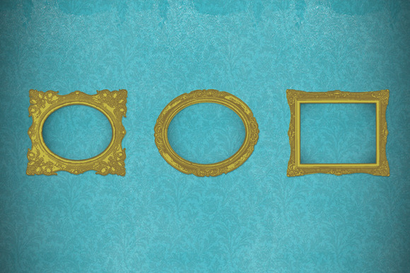 9 Vector Gilt Picture Frames