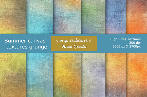 Summer Canvas Textures Grunge