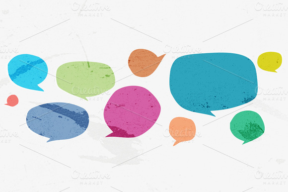 21 Vector Speech Bubble Shapes