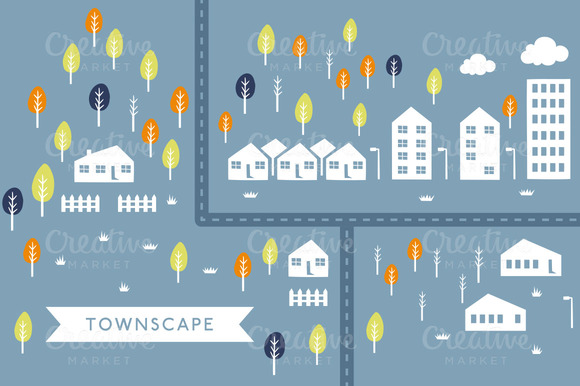Vector TownScape Illustration