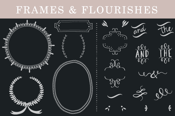 Frame Flourishes Decorative Set