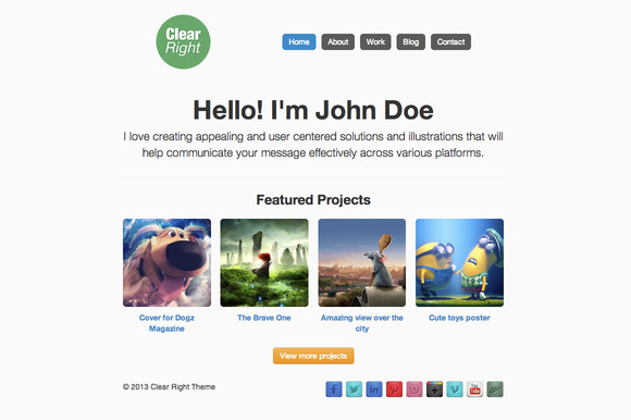 Clear-Right WordPress Theme
