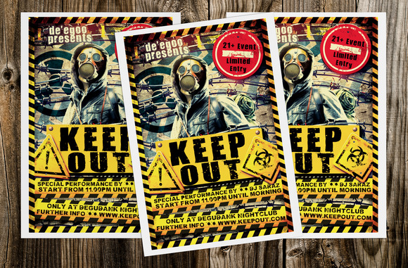 Keep Out Music Flyer