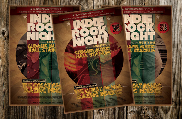 Indie Rock Night Flyer
