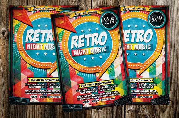 Retro Night Music Flyer