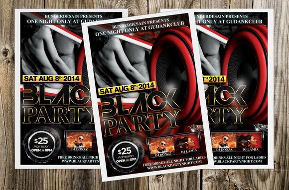 Black Party Flyer