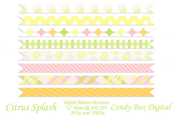 Citrus Splash Ribbon Borders