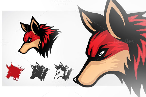Vector Red Fox Symbol
