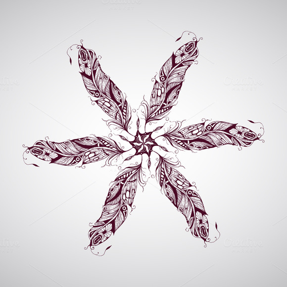 Vector Feather Composition