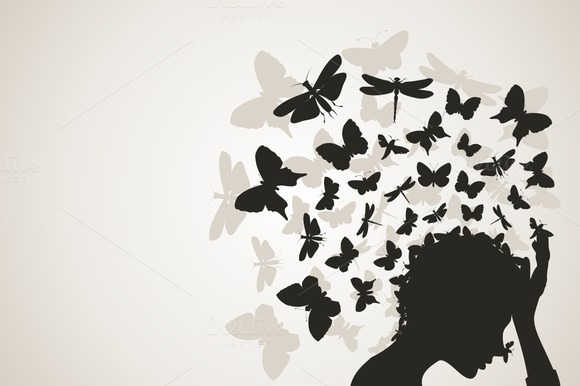Butterflies From A Head